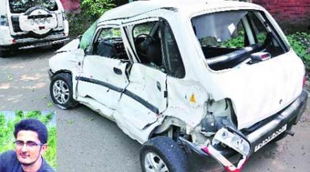 BTech student killed, 3 injured as their car collides head-on with HRTC bus