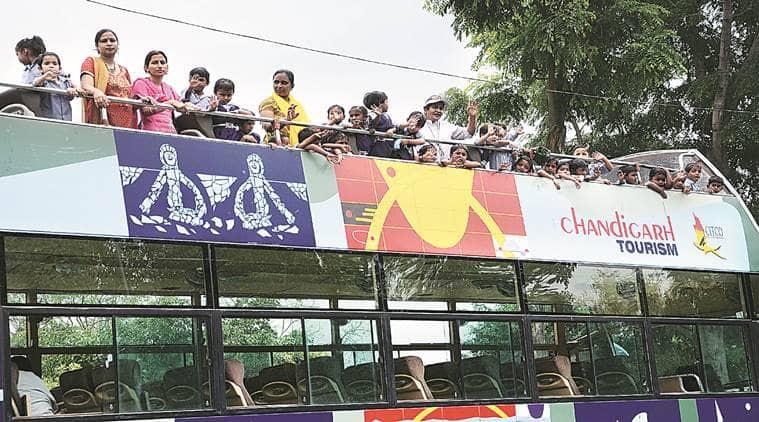 chandigarh, chandigarh tourism, hoho, hoho  bus, hop on hop off bus, chandigarh tour, chandigarh news