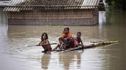 Flood, Assam Flood, Assam Flood Situation, North India Flood, India Floods, Flood News, Monsoon Floods, Assam Flood Photos, Flood in assam, Flood situation in Assam, Flood in North india, Flood Water, Assam Flood News, Flood in India, India News, Assam News