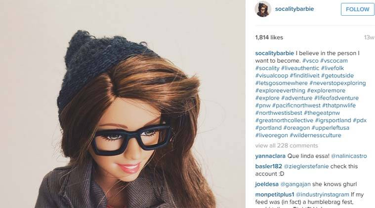 Socality Barbie is a reminder that Instagram all of us have pretty much the same images. (Source: Socality Barbie Instagram)