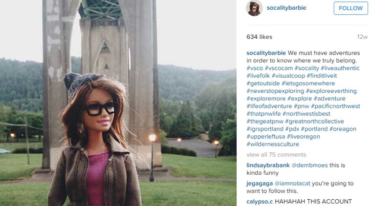 Socality Barbie, Instagram Barbie, Barbie on Instagram, Fake Instagram, Hipster Barbie, Barbie Instagram account, Viral, Trending