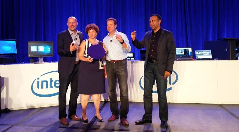 Gregory Bryant, Kirk Skaugen and Navin Shenoy introduce the 6th Intel Core processors at IDF15 in San Francisco in mid-August. (Source: Nandagopal Rajan)