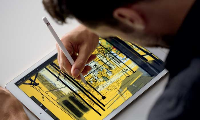 iPad Pro from Apple has a 12.9-inch screen. (Source: Apple)
