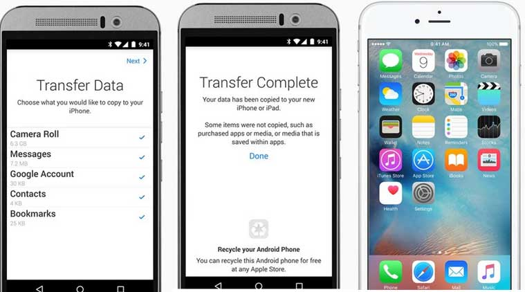 Apple, Move to iOS app, Apple iOS to Android App, iOS to Android data transfer, data transfer app, Apple iOS data transfer app, Apple iOS contacts, iOS 9, iOS 9 download, Apple iOS 9 downloads, technology, technology news