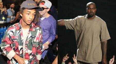 Jaden Smith salutes Kanye West during VMA speech