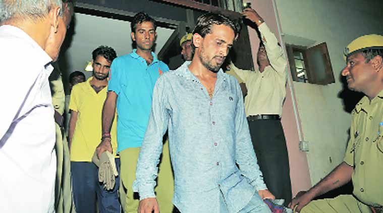 The three convicts at a court in Jaipur on Friday. Rohit Jain Paras