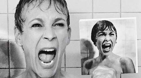 Jamie Lee Curtis re-creates mother's 'Psycho' shower scene