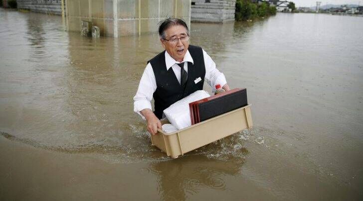 japan, japan floods, japan rains, Tokyo, Kinugawa River, Japan flood rescue, japan flood toll, japan casualties, world news, japan news