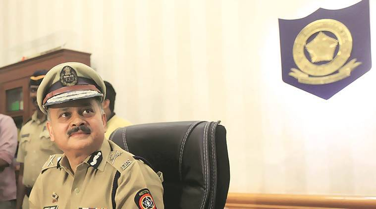 Ahmad Javed speaks to the media after taking charge as Mumbai Police Commissioner Tuesday. (Express Photo by Ganesh Shirsekar)