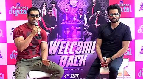 welcome back, john abraham, anil kapoor, shruti haasan, welcom back press conference, welcom back movie, john, anil, shruti, john shruti, john anil, john abraham welcome back, shruti haasan welcome back, anil kapoor welcome back, welcome back release, welcome back cast, welcome back film, entertainment news, john abraham video, anil kapoor video, shruti haasan video