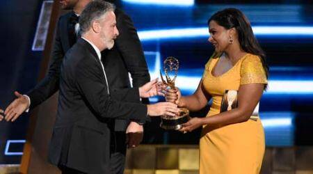 Jon Stewart gets sweet goodbye with Daily Show's wins at 2015 Emmy Awards