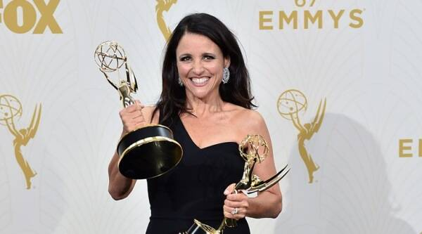 Julia louis dreyfus wins fourth emmy in a row for veep for Where did julia louis dreyfus go to college