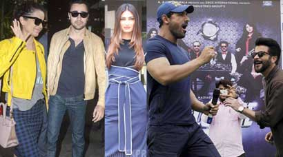 Kangana, Imran, Athiya sweat it out; John and Anil dance