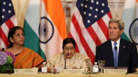 US, India, John Kerry, sushma Swaraj, India-US strategic and commercial dialogue, UN peace mission, United Nations, UN peacekeepers training, India US defence training, India US defence deal, india news, latest news, indian express column, C Raja Mohan Column