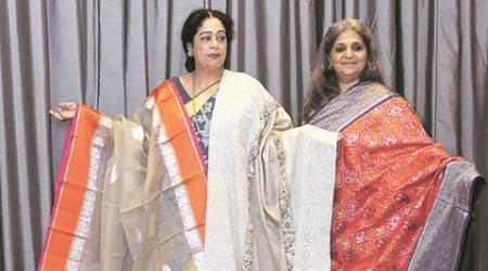 kirron kher, MP kirron kher, kirron sari love, saree collection, fashion, designer wear, designer sareer, gaurang shah sarees, chandigarh news, indian express