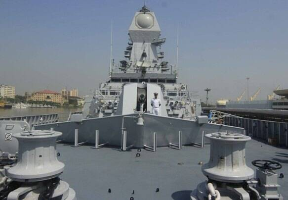 INS Kochi, INS kochi pictures, Indian Navy, India warship, India stealth destroyer, INs kochi destroyer, INS kochi commissioned, mumbai dockyard, india news, india defence news