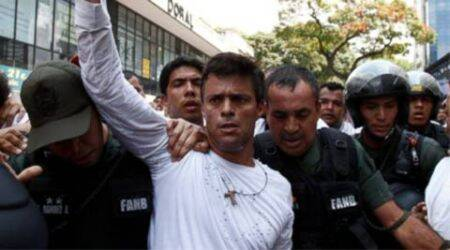 leopoldo lopez, lopez, leopoldo lopez arrest, lopez jail, leopoldo lopez jail, leopoldo lopez jail term, venezuela, venezuela leopoldo lopez, world news, latest news