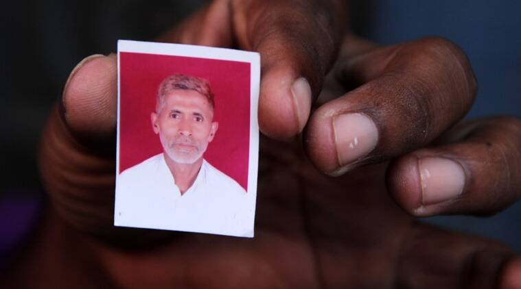 Photograph of 50-year-old Mohammad Akhlaq, who was beaten to death in UP's Dadri, allegedly by residents of Bisara village, after rumours spread in the area about the family storing and consuming beef (Express photo by Gajendra Yadav)