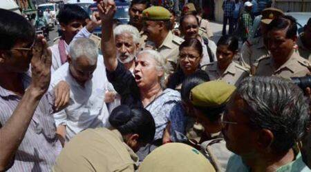 Karchhana power plant: Medha Patkar prevented from going to project site in Kachri
