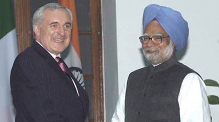 Former Prime Minister Manmohan Singh with then PM of Ireland Bertie Ahern during a 2006 state visit.