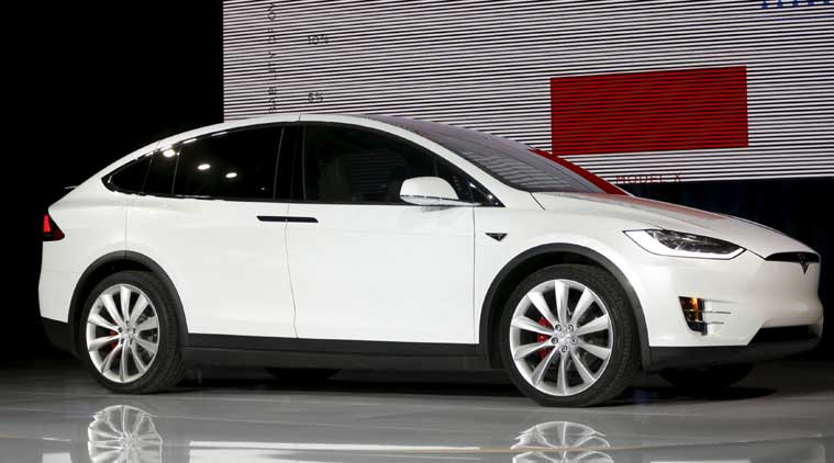 tesla launches model x electric suv to take on luxury carmakers the indian express. Black Bedroom Furniture Sets. Home Design Ideas