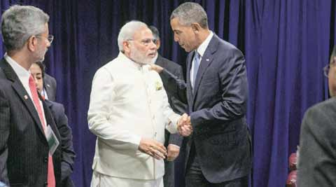 narendra modi, barack obama, narendra modi meet barack obama, paris, paris climate talks, paris talks, paris climate convention, paris meet, paris talks, obama modi, modi obama, modi news, bjp, news, latest news