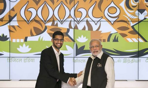 Google, Sundar Pichai, Google CEO, Android, Google CEO India Visit, Sundar Pichai India visit, Google CEO Sundar Pichai, Sundar Pichai India, Pichai in india, android one, pichai meets modi, Sundar Pichai India visit, Narendra Modi, Sundar Pichai Modi, Sundar Pichai PM, Pranab Mukherjee, India news