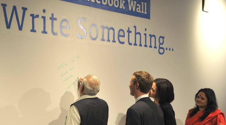 Narendra Modi, Modi Zuckerberg, Modi Facebook wall, Modi Facebook Townhall, Modi in Silicon Valley, PM Modi in Silicon Valley, PM Modi on Facebook Wall, Narendra Modi message, Mark Zuckerberg, technology, technology news