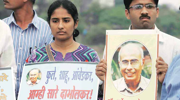 terror accused arrested, narendra dabholkar, Maharashtra Anti-Terrorism Squad, ats arrests, indian express, Shyam Manav, Mukta Dabholkar, latest news