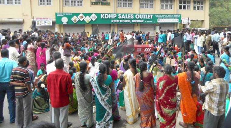 munnar tea workers, Kanan Devan Hills Plantations, Munnar women tea workers, Kerala women tea workers protest, Kerala tea workers protest, Kerala news, india news, latest news