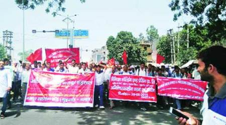 trade union strike, NCR trade union strike, delhi news, indian express