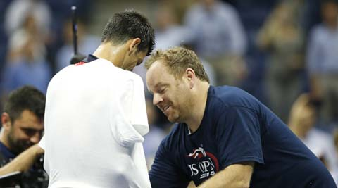 US Open: Novak Djokovic dances with fan after easy win
