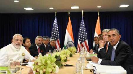 Narendra Modi, Modi US, PM Modi, PM Modi in US, barack Obama, Modi Obama, Terrorism, PM Modi barack Obama meet, Barack Obama, Obama-Modi bilateral meeting, climate conference Paris, UN Security Council reforms, Indian express, Modi news, world news