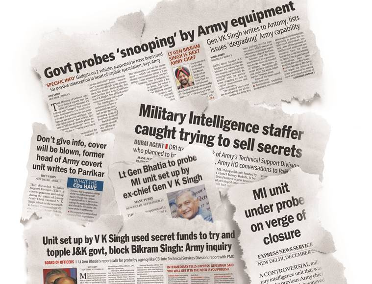military intelligence, india mi, india military intelligence, military intelligence india, india mi controversy, v k singh, indian army, army india, indian express, express explained, #ExpressExplained