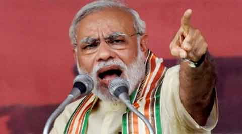 Nitish cheating Bihar, says Modi; CM replies PM disturbed with falling Sensex, GDP