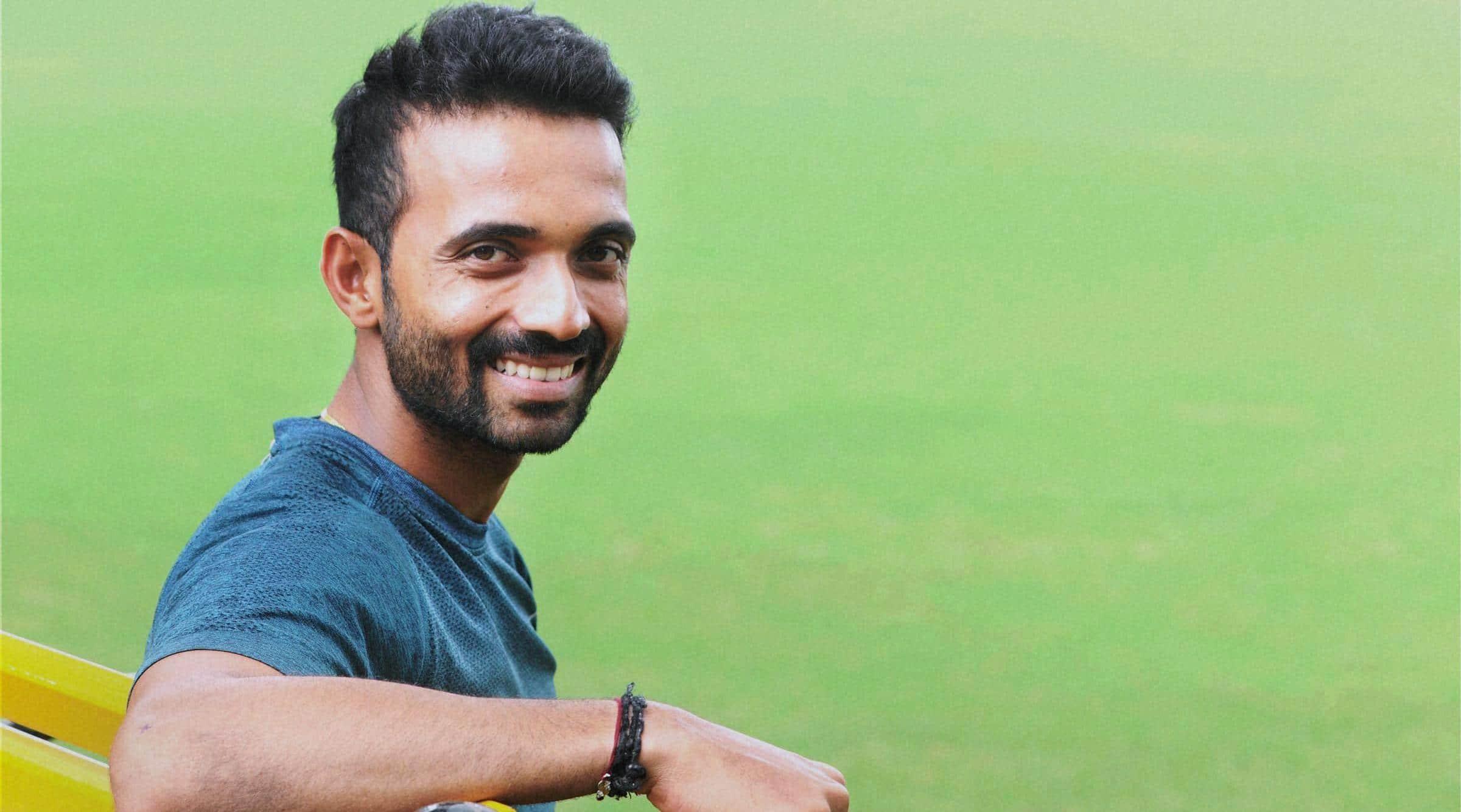 Mumbai : Indian Cricket player Ajinkya Rahane at BKC ground, in Mumbai on Wednesday. PTI Photo (PTI9_9_2015_000133A)