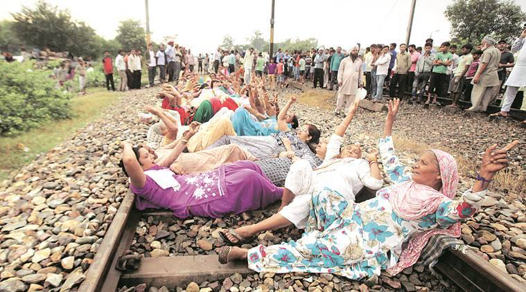 MSG 2, MSG, MSG screening, railway blocked, MSG 2 protest, chandigarh news, indian express