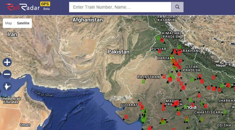 Setelight Map Of India.Railyatri In Brings Gps Based Train Tracking On Google Maps
