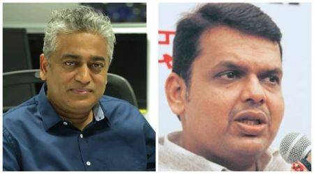 Journalist Rajdeep Sardesai debates meat ban with Maharashtra CM Devendra Fadnavis