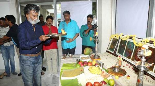 Rajinikanth, Rajinikanth Kabali, Rajinikanth Kabali Movie, Rajinikanth Kabali Shoot, Rajinikanth Kabali Pooja, Rajinikanth Kabali First Look, Rajinikanth Kabali First Poster, Rajinikanth Kabali Pooja Ceremony, Entertainment news