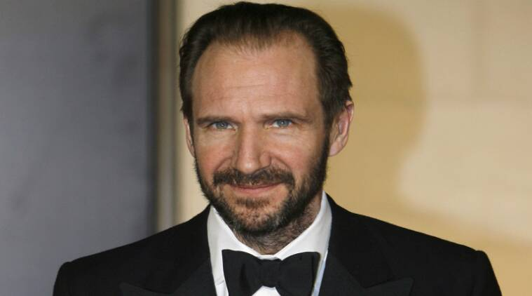 Ralph fiennes was all smiles and full of fun as he premiered his new