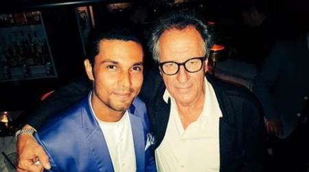 Randeep Hooda meets Geoffrey Rush at TIFF