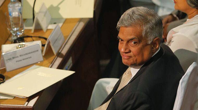 Sri Lankan prime minister Ranil Wickremesinghe. (Source: AP photo)