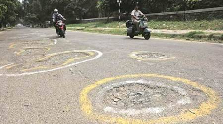 Potholes, bumpy rides: Hole story of roads in Sector 6, Panchkula