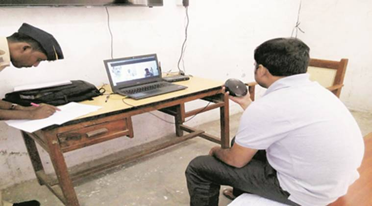 A prisoner appearing for hearing on on his appeal filed under RTI with the state information