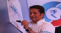 Sachin Tendulkar Brand Ambassador of Oxigen  at launch function held at Taj Land end,Bandra on Friday. Express photo by Kevin DSouza, Mumbai 25-09-2015.