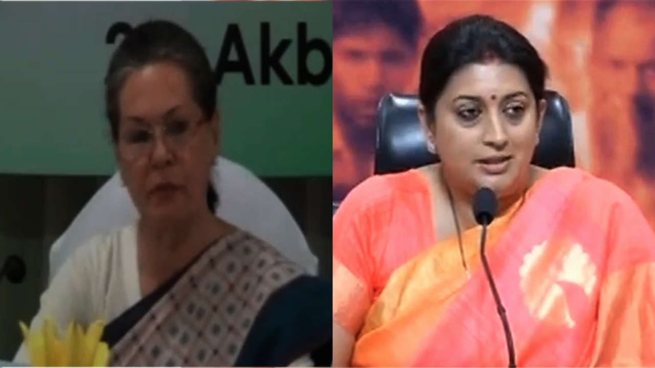 Sonia Gandhi, Smriti Irani Engage In War Of Words Over The 'Hawabaazi' Comment