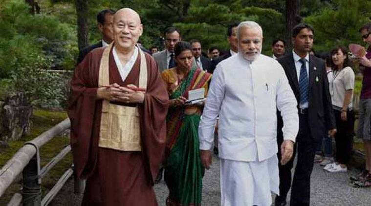 Narendra Modi, PM Narendra Modi,  PM Modi, Vivekananda International Foundation, Modi government, Sangh Parivar, Indian express, Hindu religiosity , Buddhism, World Buddhist Forum, express column