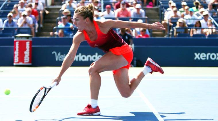 Simona Halep is through to the last four at the US Open. Photograph: Al  Bello/Getty Images