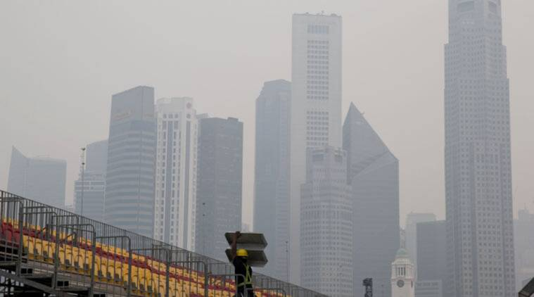 Indonesian forest fires, Singapore, Singapore schools, Singapore F1 race, F1 race, Singapore news